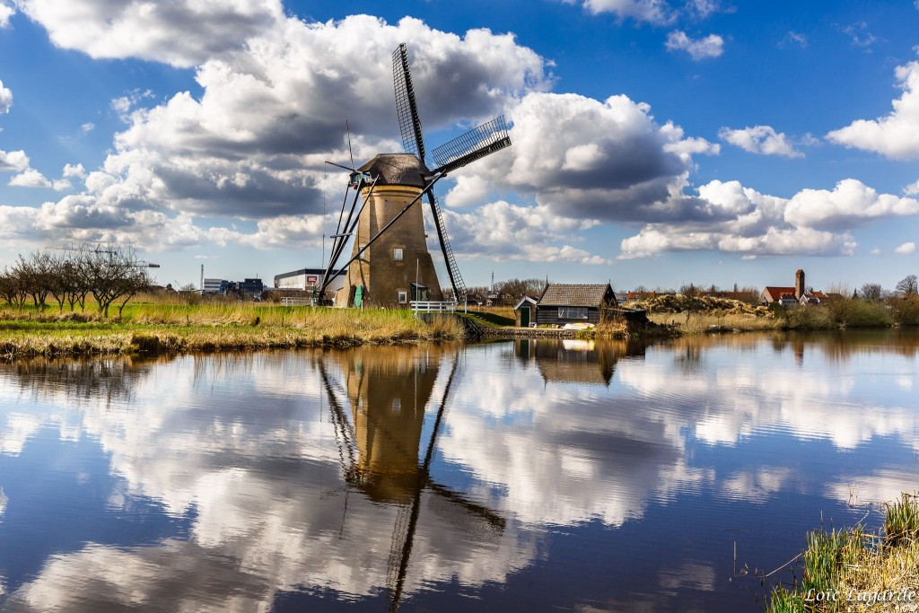 windmill dutch holland spring netherlands
