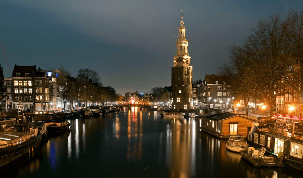 Historic amsterdam oude schans