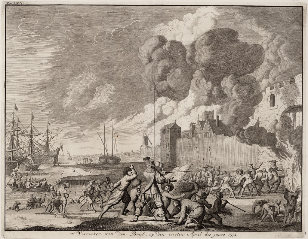 Depiction of the capture of Den Briel by Jan Luyken