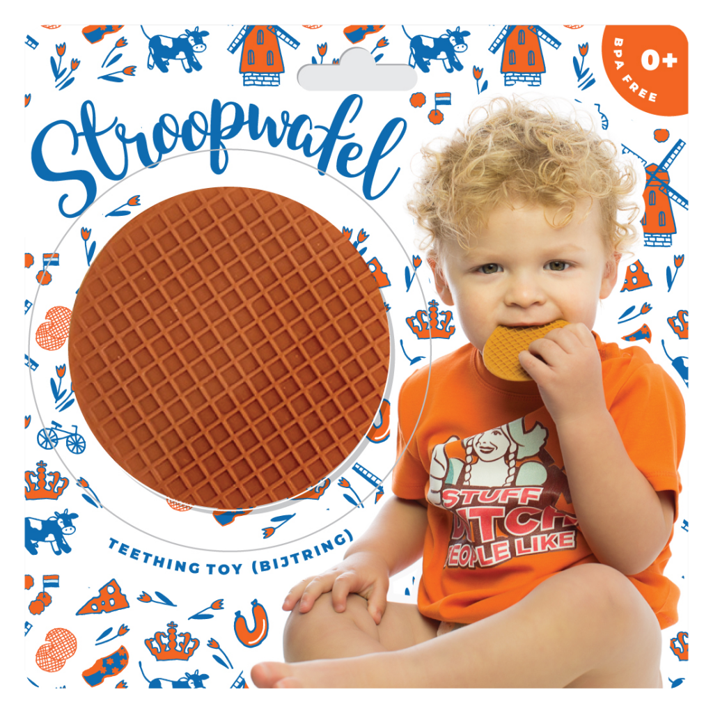 Stroopwafel Teething Toy (Bijtring)