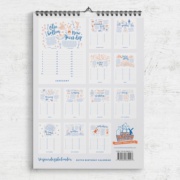Birthday Calendar Verjaardagskalender Stuff Dutch